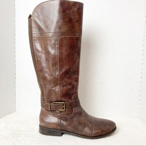 Marc Fisher Glimmer Brown Riding Boot Size 9